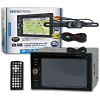 Soundstream VRN-64HB Double DIN 2DIN 6.2 GPS Navigation DVD CD receiver Bluetooth with License Plate Rear View Backup Camera