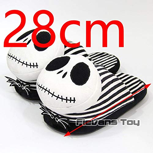 CHITOP Nightmare Before Christmas | The Nightmare Before Christmas Jack Skellington Plush Slippers Winter Indoor Warm Shoes Animation Cartoon Soft Stuffed Toys