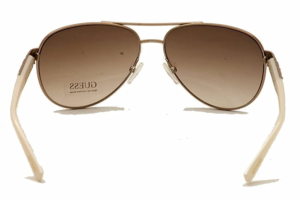Guess Womens Stud Detail Aviator Sunglasses in Rose Gold GU7282 ROGLD 34
