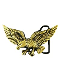Fenteer Western Prevailing Men's Eagle Prey Alloy Belt Buckle for Jean Accessories