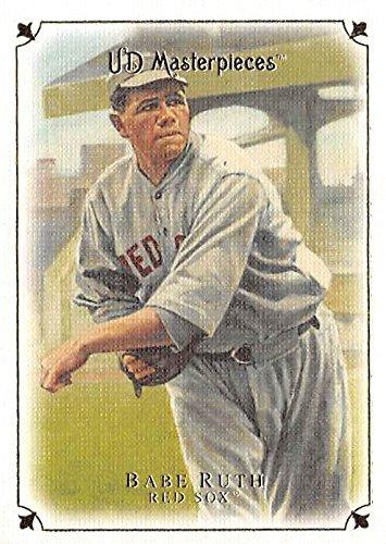 Babe Ruth baseball card (Boston Red Sox Bambino) 2007 Upper Deck Masterpieces #22 Pitcher