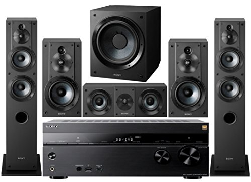 Sony 7.2 Channel 3D 4K A/V Surround Sound Multimedia Home Theater System (Sony Amp And Subwoofer)