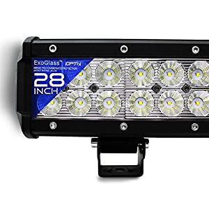 "OPT7 C2 Series 28"" Off-Road CREE LED Light Bar and Harness (Flood/Spot Auxiliary Lamp Combo 15500 lumen)"