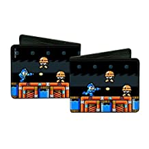 Buckle-Down Wallet Megaman Game Play Scene/hard Hat Mets Accessory