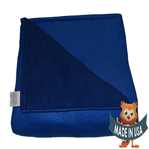 Adult Large Weighted Blanket by Sensory Goods 18lb Heavy Pressure - Blue - Fleece/Flannel (42'' x 72'') by SENSORY GOODS