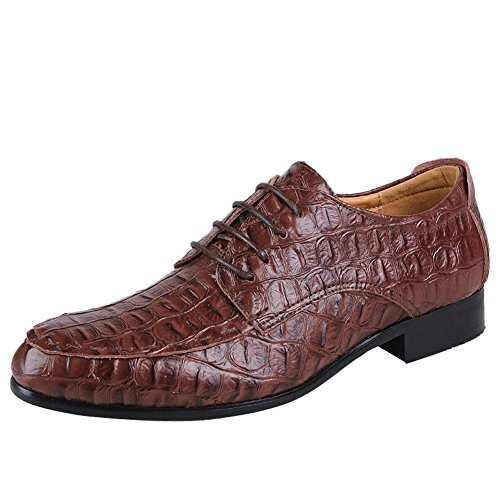 Business Oxfords Charm Dark Formal Lace Shoes Foot Heel Mens Up Low Brown wwqC6aI