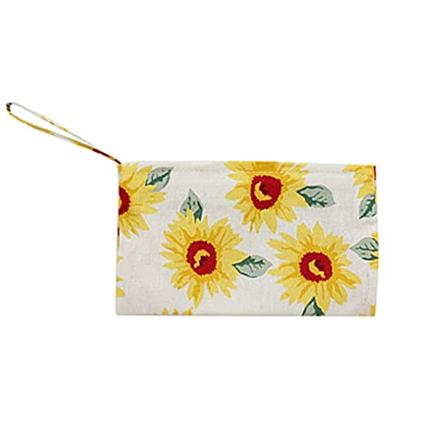 Cdet Monedero Tejidos de señora Bolsa de Moneda Monedero Key Handbag Bags Girasol Blanco