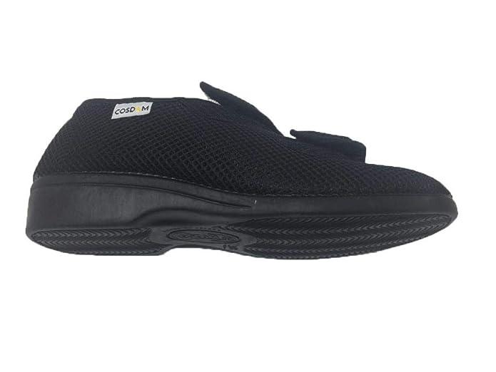 bcf861da37046 COSDAM Espadrilles Sandale Pantoufle Femme Largeur SPÉCIAL Fermeture Facile Couleur  Noire Talon 3cm Taille 35  Amazon.fr  Chaussures et Sacs