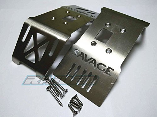 Raidenracing HPI Flux HP XL 4.6 5.9 Stainless Steel Front + Rear Skid Plate Chaiss Armor 2pcs