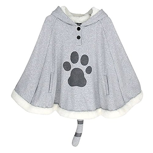 KINOMOTO Game Cat Atsume Hooded Cape Cosplay Costume Cat Claw Cotton Cloak Poncho]()