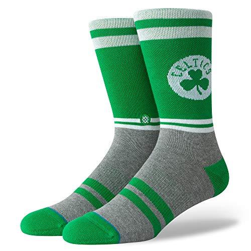 Stance M558C18BOS Men's City Gym Celtics Sock, Green - L (9-12) (White Boston Celtics Socks)
