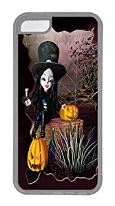 IMARTCASE iPhone 5C Case, Halloween Witch Case for Apple iPhone 5C TPU - White
