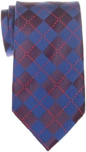 Retreez Classy Plaid Check Woven Microfiber Men's Tie - Various Colors