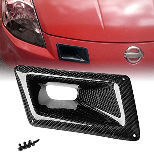 For 2003 2004 2005 2006 2007 Nissan 350Z Z33 Carbon Fiber Air Vent Right Side Hole Intake Duct (Nissan Fiber 350z Oem Carbon)