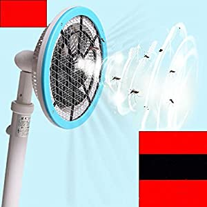 With a suction folding telescopic multi-functional electric mosquito charge rechargeable lithium battery with LED anti-mosquito shot off the flies , blue