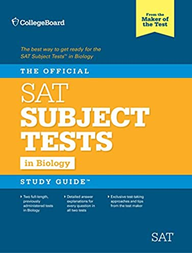 amazon com the official sat subject test in biology study guide rh amazon com sat subject chemistry practice test from official study guide pdf download Sat Chemistry Subject Test Scores