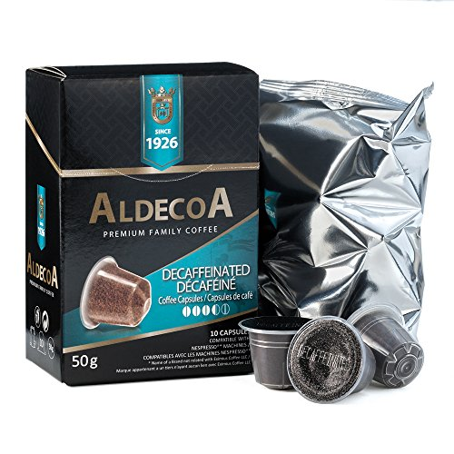 Aldecoa Nespresso Coffee Capsules, Decaffeinated, 10 Count (Pack of 4)