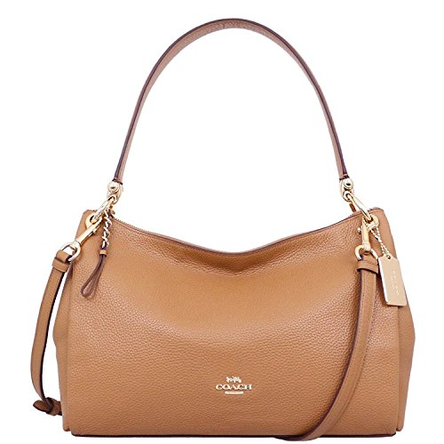 COACH F28967 MIA SHOULDER BAG IN SIGNATURE CANVAS Light Saddle