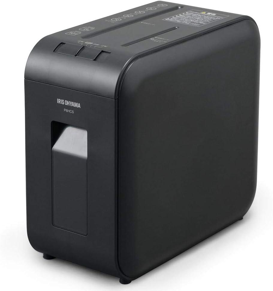 アイリスオーヤマ 静音シュレッダー 超静音 家庭用 P6HCS-B