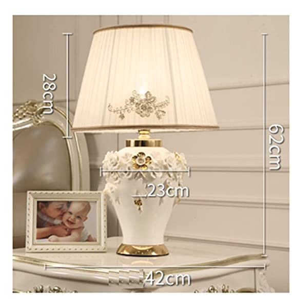 Amazon.com: PPWAN Table Lamp Model Room Living Room Ceramic ...