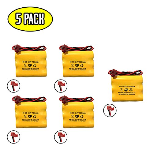 ((5 Pack) Sure-Lites 026-148 026148 3.6v 700mAh Ni-CD Battery Pack Replacement for Exit Sign Emergency Light SL026148 SL-026148)