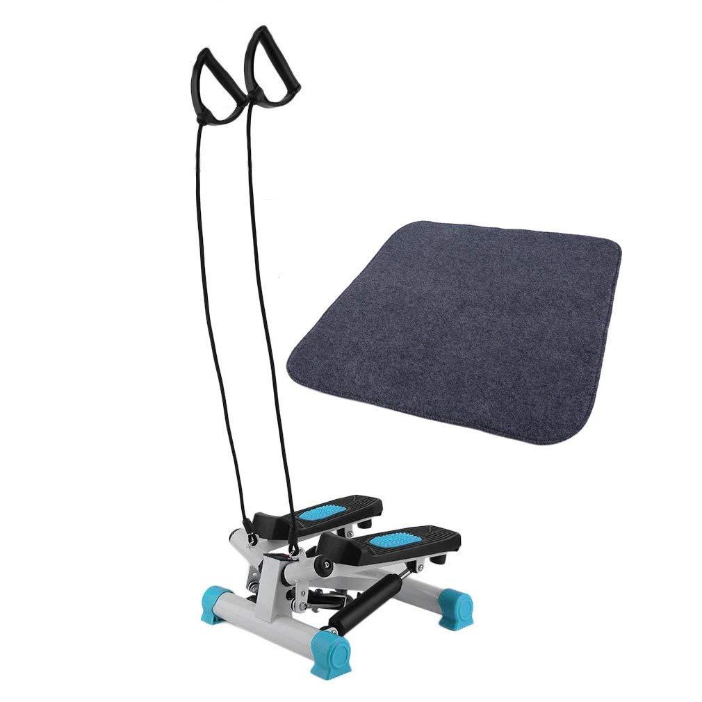 Mini Stepper con Alfombra Protectora Bajo Ruido para Fitness Entrenamiento en casa Civigroupey Up-Down Stepper con Cuerdas de Entrenamiento