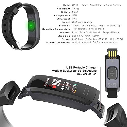 WEARFIT GT101 Color Screen Smart Band Real-time Heart Rate Monitor