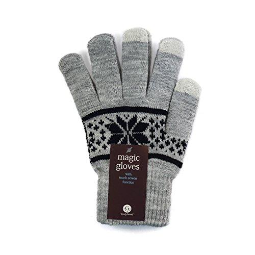 Touch Screen Gloves Unisex Wool Warm gloves ( Grey) - 2