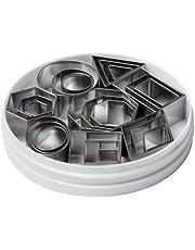 Ateco 4845 Geometric Shape Cutter, Set of 24
