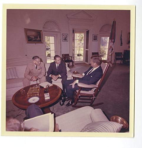 John F Kennedy W Robert Mcnamara Military Aattachã Stoughton Photo 1963 Entertainment Collectibles