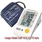 EastShore Upper Arm digital blood pressure monitor with extra large cuff (designed for big people) . 120 memory ,Irregular Heart Beat detector, Jumbo LCD