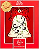 Lenox 2017 Joyous Tidings Bell Ornament Holiday motif Red bow New