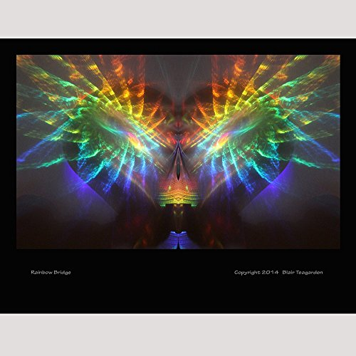 Rainbow Photo Spiritual Peace Print Psychedelic Picture Art Healing Art by Teagarden Arts