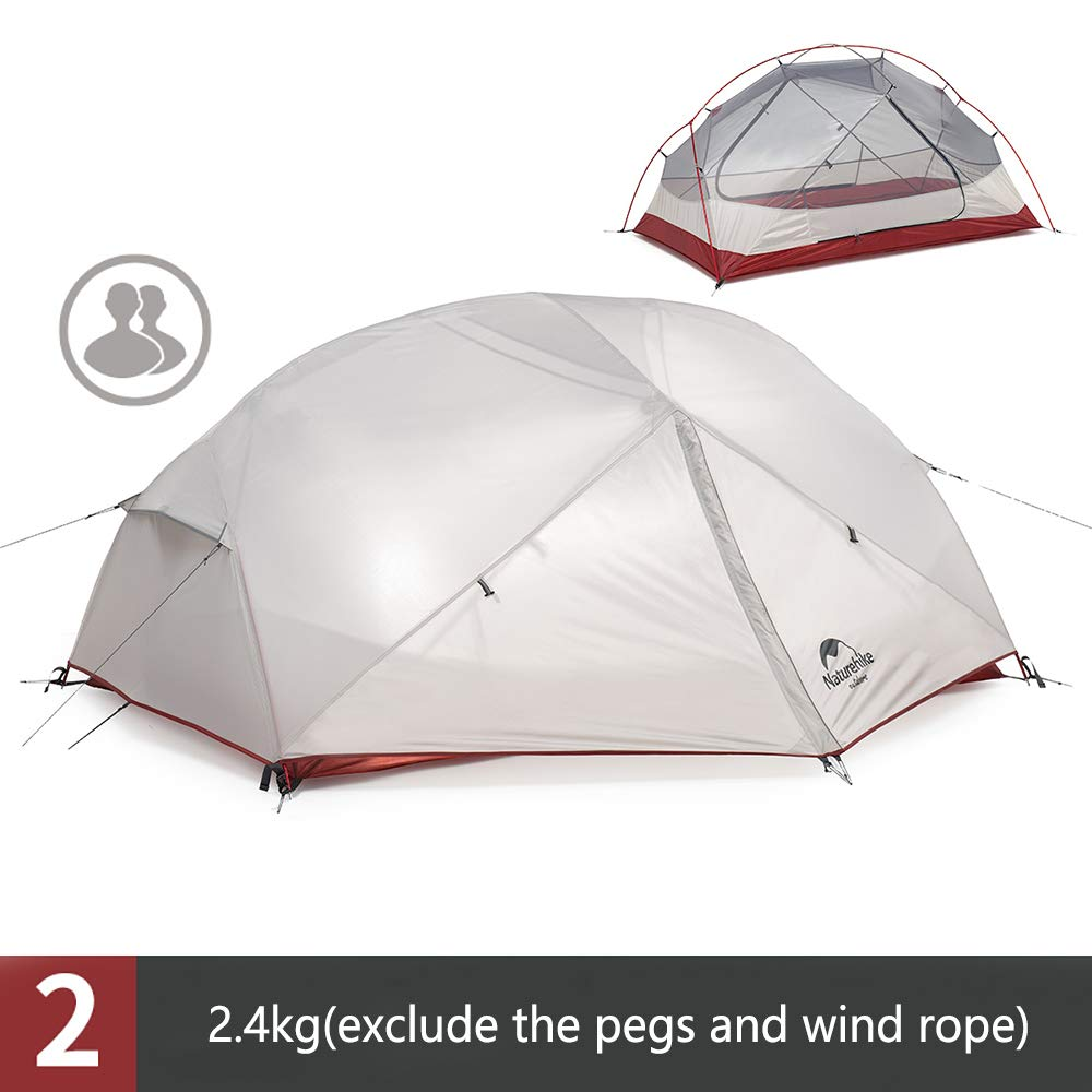 Camping Tent 210T Waterproof Double-layer Pop Up Tent Hiking Outdoor for 2-3 Men