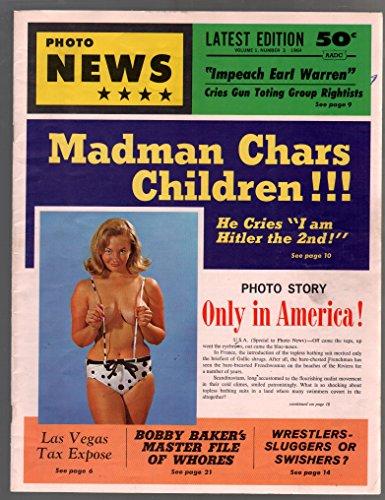 - Photo News #4 1964-exploitation-scandal-Bill Ward art-spicy women-VF