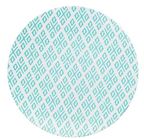 Trendables Premium 8 Inch. Disposable Plastic Plates, Food Grade Plastic Salad/Dessert Plates - Aztec Design - 40 Pack