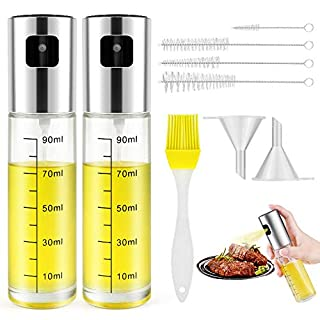 Oil Sprayer,Olive Oil Dispenser Bottle Sprayer Reusable Mister Food-grade Glass Oil Spritzer Bottle for Kitchen Cooking Air Fryer (8 IN 1 Oil Sprayer)
