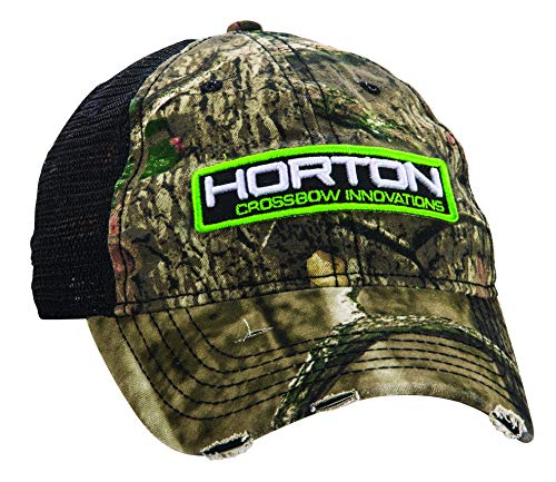 HORTON CROSSBOW INNOVATIONS Crossbow Patch Hat, One Size, Camo/Black Mesh (HCA-60515-MB)