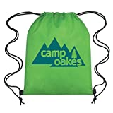 Lime Non-Woven Drawstring Backpacks - 150 Quantity - PROMOTIONAL PRODUCT / BRANDED / BULK / CUSTOMIZED W/ YOUR LOGO - Lime