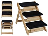 Best for Pet Folding 2-in-1 Stairs Ramp Non Slip Sturdy Wooden Step Dog Cat Animal Ladder by Lovely Pets