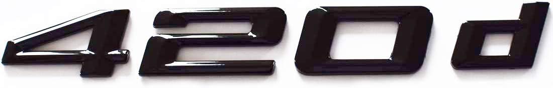MCK Auto 420d nero lucido bagagliaio posteriore logo emblema Tuning per F32 F33 F36 HB2L3