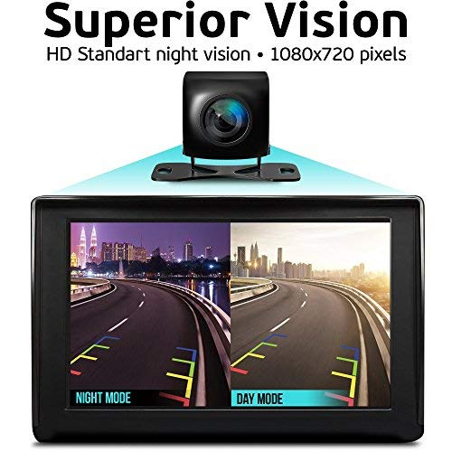 Backup Camera Night Vision - HD 1080p - Car Rear View Parking Camera - Best 170° Wide View Angel - Waterproof Reverse Auto Back Up Car Backing Camera - High Definition - Fits All Vehicles by Yanees by YANEES (Image #5)