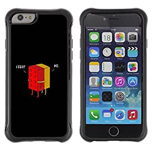 Suave TPU Caso Carcasa de Caucho Funda para Apple Iphone 6 PLUS 5.5 / Play Quote Funny Black Minimalist Game / STRONG