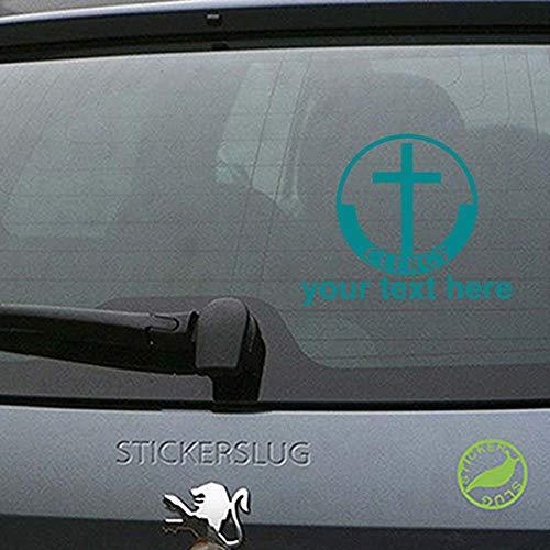Clergy Cross Custom Decal Sticker (Turquoise, 8 inch) car Truck Window b20493