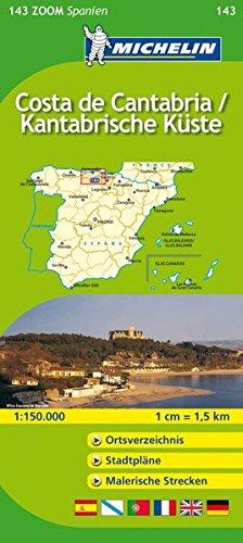 Michelin Costa de Cantabria / Kantabrische Küste: Straßen- und Tourismuskarte 1:150.000 (MICHELIN Zoomkarten, Band 143)
