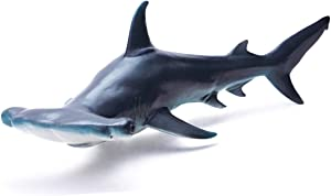 RECUR Toys Hammerhead Shark Figure Toys, Hand-Painted Skin Texture Ocean Shark Figurine Collection-10.8inch Realistic Design Shark Replica 1:15 Scale, Gift for Collectors and Boys Kids , Ages 3 And Up