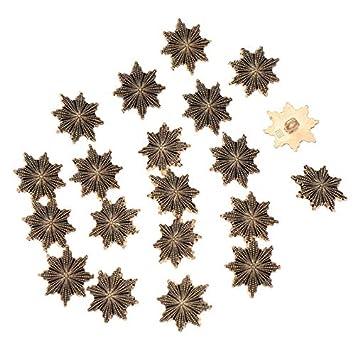 Amazon com: 20pcs Vintage Snowflake Metal Shank Button Closure Retro