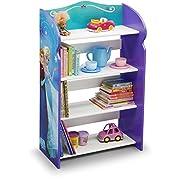 Delta Children Disney Frozen Kids Adorable Anna and Elsa Corner Adjustable Bookshelf Organizer (Frozen)