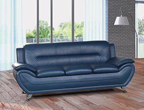U.S. Livings Anya Contemporary Modern Living Room Sofa (Blue)