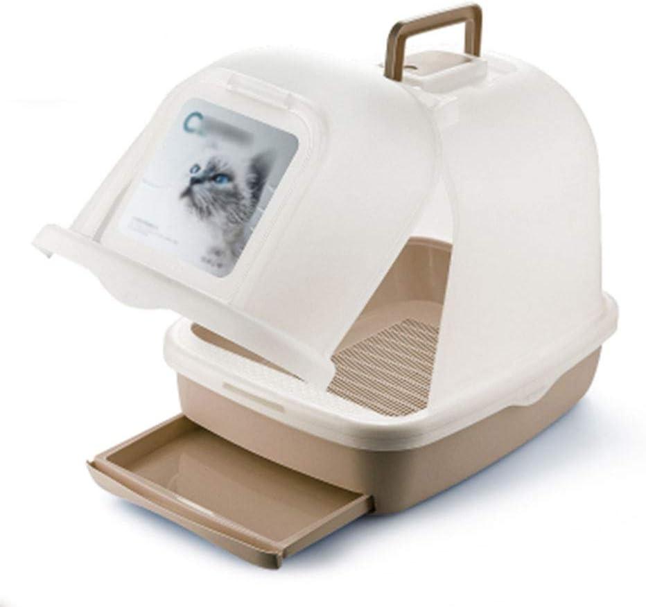semicerrada Reuvv Bandeja de pl/ástico para Inodoro de Gatos a Prueba de Grietas para Entrenamiento de Mascotas y Gatos con Borde Resistente a los Golpes